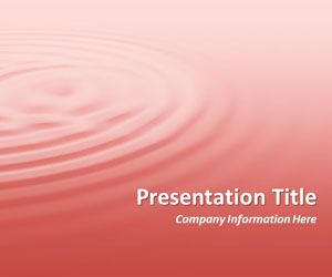 Ripples Pink PowerPoint Template