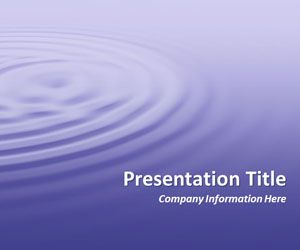Ripples Purple PowerPoint Template