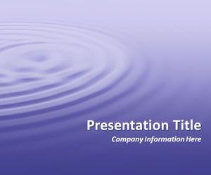 Ripples Purple PowerPoint Template