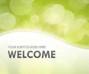 Light Bokeh Green PowerPoint Template