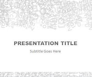 Alphabet Gray PowerPoint Template