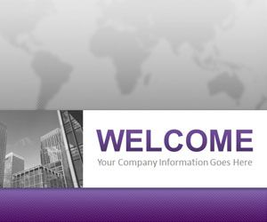 Corporate Business Purple PowerPoint Template