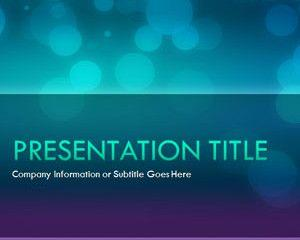 Glow Night PowerPoint Template