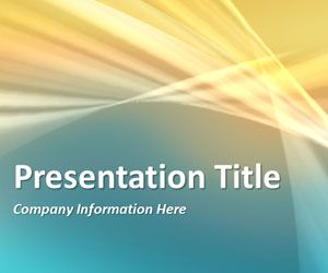 Abstract Curves 4 PowerPoint Template