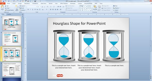 free hourglass powerpoint template