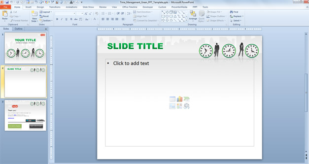 Time Management slide design for PowerPoint