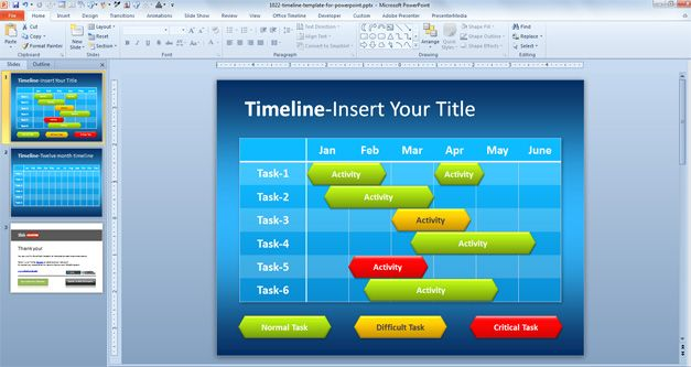 free simple timeline template for powerpoint