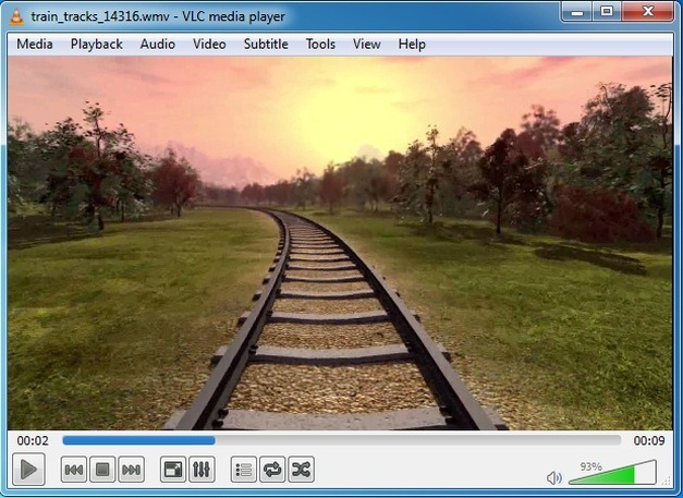 train tracks animation