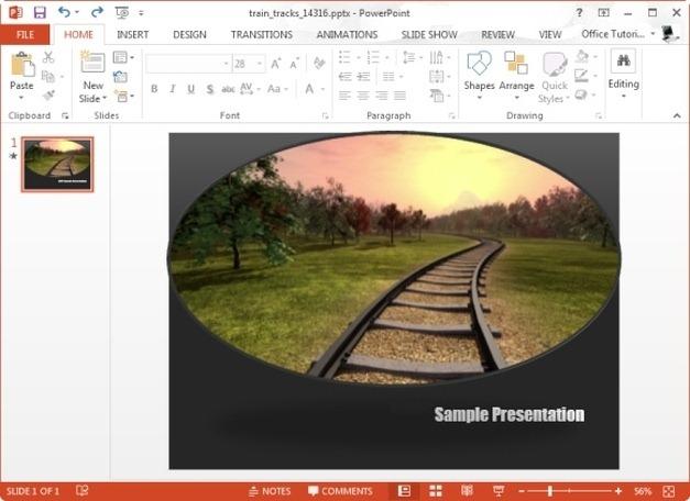 train tracks powerpoint template