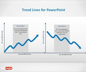 Uptrend & Downtrend Lines for PowerPoint