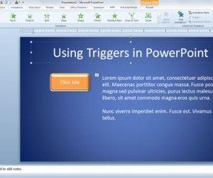 Using Triggers in PowerPoint 2010