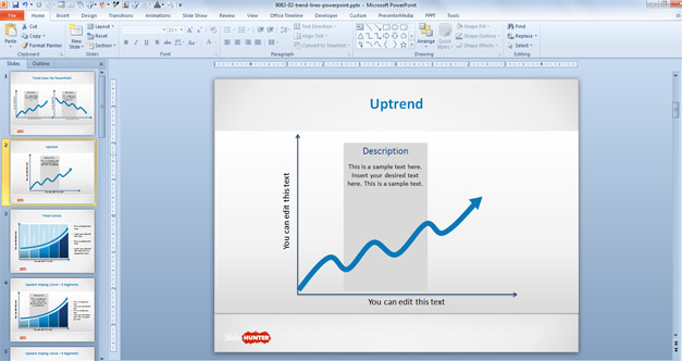 Uptrend Line for PowerPoint