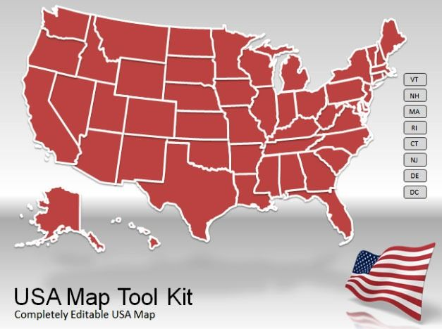 Ppt Us Map Template US Map PowerPoint Template
