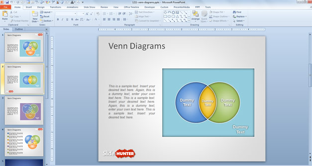 Creative Venn Diagrams PowerPoint Template