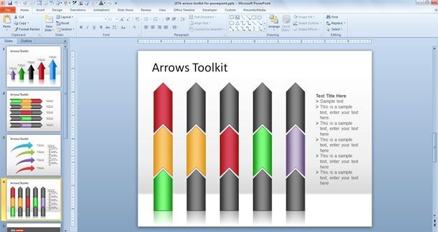 Free Vertical Arrow PowerPoint templates