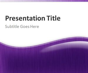 Purple Abstract PowerPoint Template
