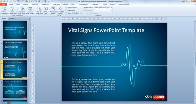 Microsoft Powerpoint Template Free Download from slidehunter.com
