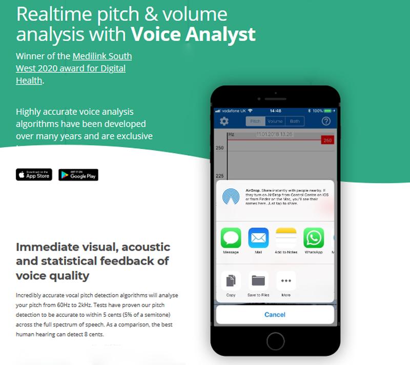 voice analyst app