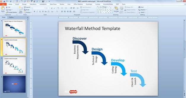 Waterfall model for PowerPoint