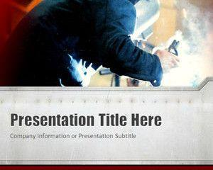 Welding Red PowerPoint Template