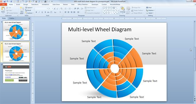 Free Wheel Diagram for PowerPoint