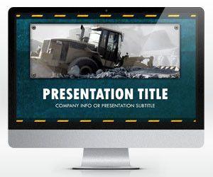 Widescreen Construction PowerPoint Template (16:9)