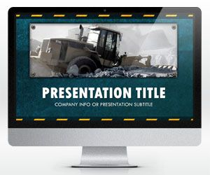 Widescreen Construction PowerPoint Template (16:9)