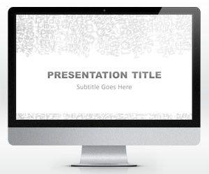Widescreen Gray Alphabet PowerPoint Template