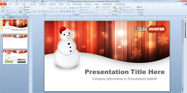widescreen Christmas template