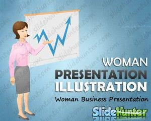 Woman Business Presentation Illustration Vector