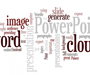 Word Cloud in PowerPoint Presentation Background