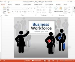 Business Workforce Template For PowerPoint And Keynote