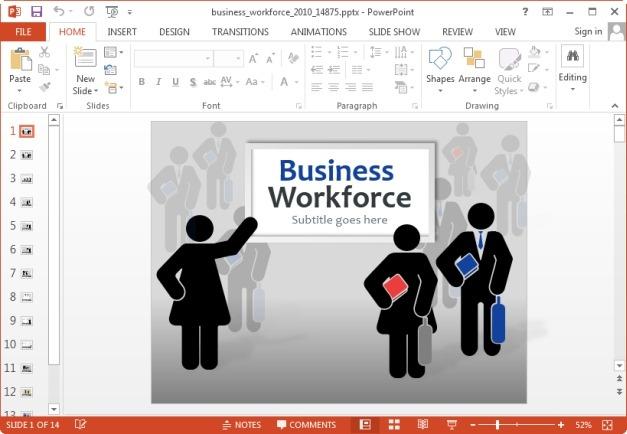 workforce powerpoint template