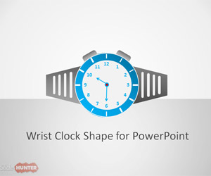 Wrist Clock Shape for PowerPoint