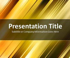 Slanted Bars Gold PowerPoint Template